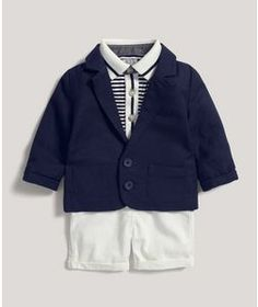 Blazer, Polo Shirt & Shorts Set
