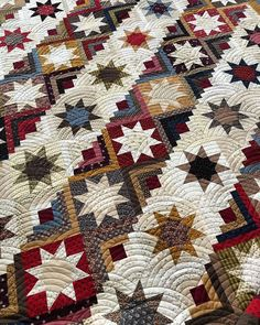 Baptist fan finishes this huge wonderfully pieced quilt by Star Quilt Blocks, Star Quilt Patterns, Star Quilts, Scrappy Quilts, Log Cabin Quilt Pattern, Log Cabin Quilts, Log Cabins, Longarm Quilting, Machine Quilting