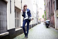 I love blue, I love this outfit!!! Style Scrapbook: POURING RAIN