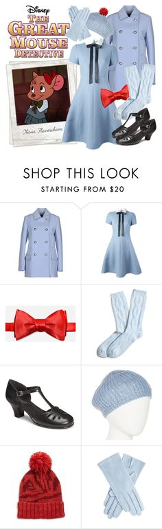 """""""Olivia Flaversham"""" by rochellechristine ❤ liked on Polyvore featuring Disney, Gucci, Polaroid, Valentino, Brooks Brothers, Aerosoles, Mixit, Genie by Eugenia Kim, vintage and Halloween"""