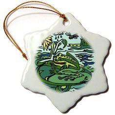 orn_12732_1 AlienJunkyard Fantasy - Jester Dragon - Ornaments - 3 inch Snowflake Porcelain Ornament 3dRose http://www.amazon.com/dp/B004PXJ4PU/ref=cm_sw_r_pi_dp_l.xswb0TMF2D4