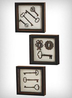 340a947dc600 Key Collection Wall Art Set of 3