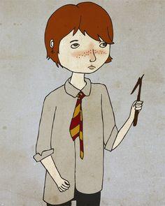a Ron Weasley print (by Nan Lawson)