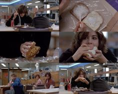 """""""The Breakfast Club"""" lunch time with Allison (Ally Sheedy) 1980s Films, 80s Movies, Great Movies, Movie Tv, Breakfast Club Quotes, The Breakfast Club, Movies Showing, Movies And Tv Shows, Brat Pack"""