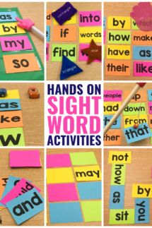 Sight word activities can be fun and engaging for preschool, kindergarten, first grade, and grade students in the classroom. These are my favorite hands on activities that require NO worksheets. Get the free flashcards and you're ready to play! Preschool Sight Words, Teaching Sight Words, Sight Words List, First Grade Sight Words, Sight Word Practice, Sight Word Games, Sight Word Activities, Kindergarten Activities, Preschool Worksheets