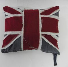 Tattered Chic Union Jack Pillow by dinwiddieshome on Etsy