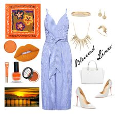 """""""Blurred Lines"""" by felicitysparks ❤ liked on Polyvore featuring Finders Keepers, Lime Crime, Clarins, MAKE UP FOR EVER, Vita Fede, Michael Kors, Alexis Bittar, Sarah & Sebastian and Christian Louboutin"""