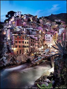 Riomaggiore, Cinque Terre , province of La Spezia , Liguria region, Italy