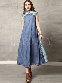 #vintagedresses #denimdress #longdresses #dressforwomen