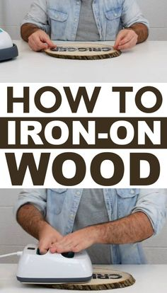 To Iron On Wood If youre looking for tips and tricks on how to perfectly iron on wood this tutorial will definitely help you out.If youre looking for tips and tricks on how to perfectly iron on wood this tutorial will definitely help you out. Diy Wood Projects, Vinyl Projects, Fun Projects, Woodworking Projects, Woodworking Plans, Circuit Projects, Popular Woodworking, Woodworking Furniture, Cricut Projects Christmas