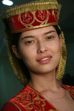 Kazakh national women's fashion.