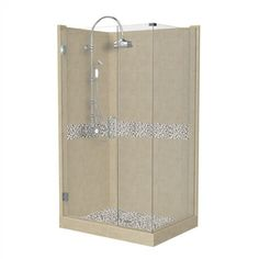 American Bath Factory�Java 86-in H x 32-in W x 36-in L Medium with Java Accent Square Corner Shower Kit