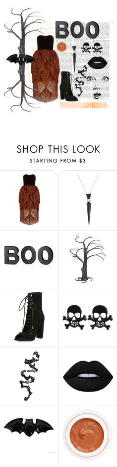 """""""The Halloween Formal"""" by autumnhawthorn on Polyvore featuring Isa Arfen, Alexis Bittar, Crate and Barrel, Kendall + Kylie, Lime Crime, Fitz & Floyd, GE and rms beauty"""