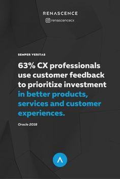 Customer feedback is an insight into what is working well about your product or service and what should be done to make experience better. You might have the best expertise in the industry in which your company operates, but your professional knowledge will never be more valuable to business performance than customer insights.  - Customer experience data, customer experience insights, customer experience data, customer experience analytics - #customerexperience #ux #insights #renascencecx Customer Insight, Customer Feedback, Customer Experience, What Is Work, Business Performance, Competitor Analysis, Prioritize, Research Paper, Infographic