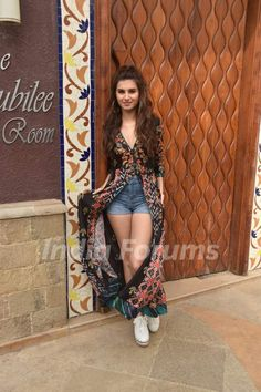 Tara Sutaria looks chic as she was snapped promoting Marjaavaan Indian Fashion Dresses, Dress Indian Style, Indian Designer Outfits, Girls Fashion Clothes, Teen Fashion Outfits, Girly Outfits, Cute Casual Outfits, Indian Outfits, Modest Fashion