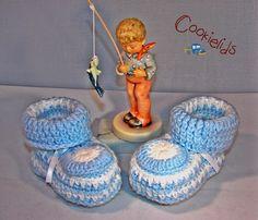 Crochet Booties Boys by CookieLids on Etsy