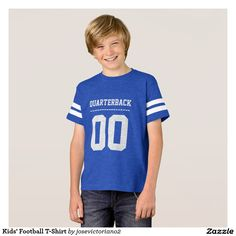 Football T-Shirts - Football T-Shirt Designs American Football Shirt, Football Shirts, Kids Football, I Love My Dad, Team T Shirts, Boy Outfits, Shirt Style, Shirt Designs, Graphic Tees