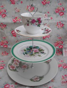 Victoria Jane. This weekend I made this vintage china cake stand from old plates I bought from the carboot sale! Perfect for Jubilee cupcakes! Yumm x