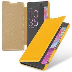 TETDED Premium Leather Case for Sony Xperia XA Ultra F3211 F3213 F3215 / Xperia XA Ultra -- Dijon II (LC: Yellow)