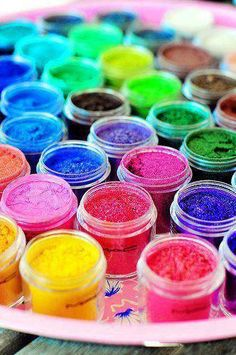 Colors and glitter, oh my!  color inspiration   rainbow   beautiful colors   glitter