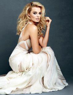 Margot Robbie. Shear and airy, light weight dress. Elegant, classy, fashion. Glamour photo shoot.