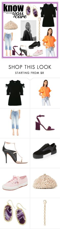"""Happy Fashion"" by mkrish ❤ liked on Polyvore featuring Niki Taylor, ZoÃ« Jordan, MDS Stripes, Mother, Gianvito Rossi, Givenchy, Kendall + Kylie, Superga, Santi and Kendra Scott"