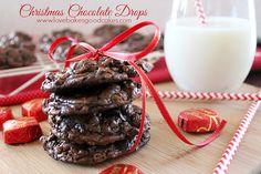 Christmas Chocolate Drops #chocolate #cookies