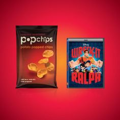 you get the movie, we'll get the snacks. enjoy a free bag of #popchips when you buy #wreckitralph on blu-ray or dvd from your local #ACMEmarkets, #cubfoods, #farmfresh, #albertsons, #jewelosco, #shopnsave, and #shaws supermarkets! #family #movienight #deal #save