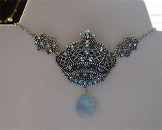 Blue Crown Necklace | Zeta Tau Alpha