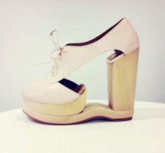 cut out wooden heels