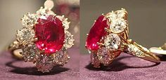 Elizabeth Taylor's ruby and diamond ring, given as a Christmas gift by Richard Burton in 1968