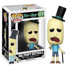 (affiliate link)  Rick and Morty Mr. Poopy Butthole Pop! Vinyl Figure