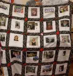 Memory quilt with Signature Pillow  Made to Order by McGarritys, $199.00
