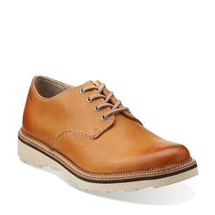 Frelan Walk in Cognac Leather - Mens Shoes from Clarks