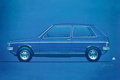 Modern 1970: Still dominates a gentle but very noticeable lower window line the styling of the Golf I almost looks a little after Polo I ...