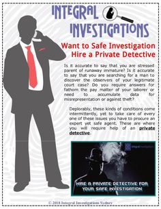 Are you needing private investigator to help in your case? You want to safe investigation hires a private detective. Meet and contact him and also discuss our cases. Our experts solve your case and suggest in the right direction always.
