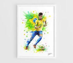 Neymar da Silva Santos Junior Brazil team FC Barcelona by NazarArt, $20.00