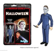 Michael Myers Halloween Movie Horror Reaction Retro Figure Knife Zombie Mask New #ReactionRetro