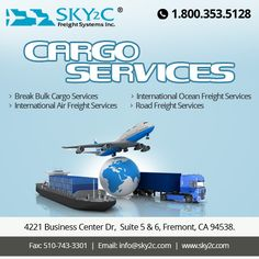 Excellent #Cargoservices! Contact Sky2c Freight System for International Ocean Freight, Domestic Air Freight & Road Transportation.