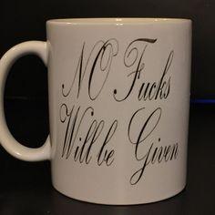 No F Given Coffee Mug  funny coffee mug by BlackCatPrints on Etsy