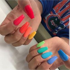 In look for some nail designs and some ideas for your nails? Listed here is our set of must-try coffin acrylic nails for modern women. Acrylic Nails Stiletto, Summer Acrylic Nails, Best Acrylic Nails, Gel Nails, Nail Polish, Matte Nails, Acrylic Nail Designs For Summer, Acrylic Nail Art, Acrylic Colors