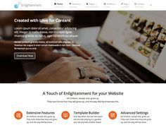 WordPress › Enlightenment « Free WordPress Themes Wordpress Template, Wordpress Theme, Wordpress Org, Lorem Ipsum, Templates, Blog, Free, Hate, Models