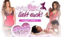 20% Rabatt auf alle roten Dessous, Korsetts & Vorsagen bis 14.Februar  zugeschnuert-shop.de