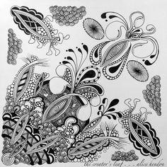 Alice Hendon, The Creator's Leaf, www.thecreatorsleaf.com, blessings, zentangle, #zentangle, #The Creator's Leaf