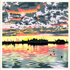 Dawn Harbor Provincetown print by Jim Winters