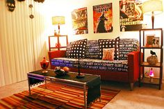 Use Tablecloth as Slipcover For Halloween Home Decorating