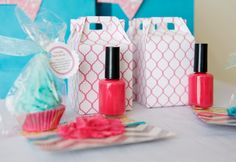 Party Favors for a Spa Party - #partyfavor