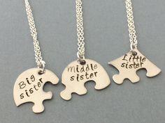 3 mejor amigo collar 3 hermanas collar joyería de por sonudesigns