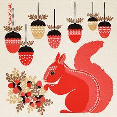 KuosiKioski Advent Calendar 2011 by Terhi Hyvönen, via Behance  ACORN ORNAMENTS W/FAIRLISE DESIGNS!