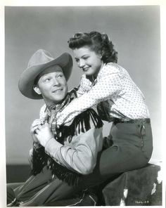 Roy Rogers and his adopted daughter Cheryl